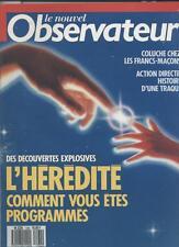 Le Nouvel Observateur   N°1164   27 Fevrier Au 5 Mars 1987: L'heredité Comment v