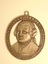 small decorative pewter plaque: James Hamilton, Lancaster City colonial planner