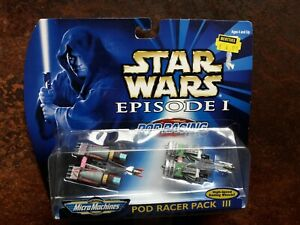 Micro Machines Star Wars Episode 1 - Pod Racer Pack lll