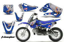 Decal Graphic Kit Wrap For Kawasaki KLX 110 2002-2009 KX 65 2002-2018 TBOMB BLUE