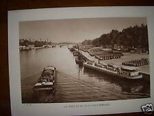 PHOTOGRAPHIE PARIS SEINE ET QUAI ST BERNARD