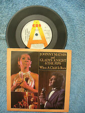 JOHNNY MATHIS / GLADYS KNIGHT WHEN A CHILD IS BORN cbs demo / promo 1758