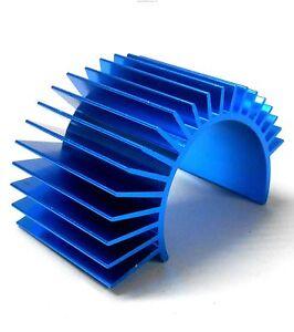 N10029 1/10 Scale RC 540 550 Motor Heatsink Heat Sink Vented Light Blue 35mm x 1
