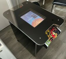 Multigame Black Glass Coffee Cocktail Table 2 Player Arcade Gaming Machine
