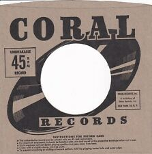 CORAL Company Reproduction Record Sleeves - (pack of 12]