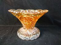 Imperial Glass Punch Bowl Base Footed Vase Marigold Four Seven Four Pattern