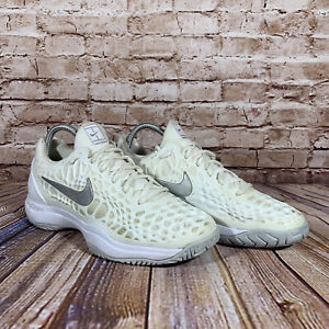 Nike Zoom Cage 3 Tennis Shoes Womens Size 8.5 White Sneakers 918199-102