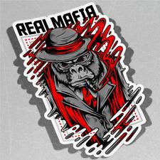 Real mafia oscuro negocio Gorila Mo Vinilo Pegatina Calcomanía ventana de coche furgoneta bicicleta 3152
