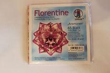 Faltblätter Florentine Anemonen 03 ; 65 Blatt 10 * 10  cm 80 g/qm