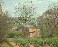 The Pink House Camille Pissarro Fine Art Painting Print on CANVAS Giclee Repro S