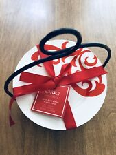 Set/4: Ciroa Fiori Appetizer/Dessert Plates Red & White Scroll
