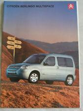 Citroen Berlingo Multispce range brochure Nov 2002