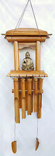 WIND CHIME Feng Shui THAI BUDDHA  Bamboo Pagoda Temple Hand Made **=