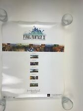 FINAL FANTASY 11 ONLINE PLAYSTATION 2 HDD PROMO DOUBLE SIDED POSTER DISPLAY SIGN