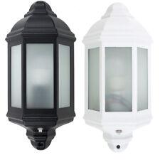 Modern Outdoor Security Bulkhead Wall Light Dusk Dawn PIR Motion Sensor Lamp