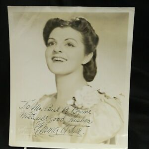 Emma Otero Cuban Coloratura Soprano Hand Signed 8x10 Sepia Photo Bruno Hollywood