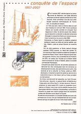 Document Philatélique Timbre 1er Jour : 04/10/ 2007 - Conquête de l'Espace