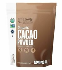 Raw Organic Cacao Powder Substitute for Cocoa 1 Pound LivFit Guilt Free