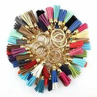 Tassel Leather Keychain Keyring Charm Pendant Purse Bag Key Ring Chain Gift Idea