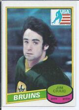 Jim Craig  Boston Bruins  80/81 OPC O-Pee-Chee  RC