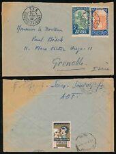 FRENCH SAHARA MALI 1932 CHARITY LABEL on ENVELOPE...SAN to GRENOBLE SWITZERLAND