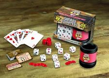Original Square Shooters Dice Set Dice, Roller Cup, Deck of Cards and Poker Chip