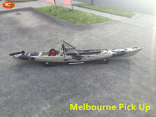Jetocean Fishing Kayak 430cm Sit On In-built Seat and Trolley with Paddle Sand