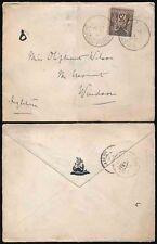 FRANCE 1887 ENVELOPE DRAGON MARGARET CELTIC CROSS FLAP to WINDSOR GB
