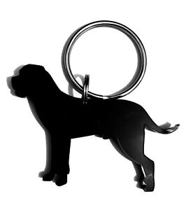 Cane Corso Dog Keyring Keychain Bag Charm Gift In Black