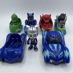 Pj masks vehicles 1 figure and a talking moving car new batteries bundle 3