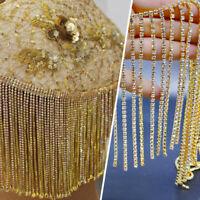 Rhinestone Crystal Tassel Chain Trim Glitter Beaded Fringe Sewing Crafts 10CM