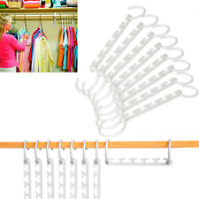 5 Hook Clothes Hanger Cascading Wardrobe Storage Closet Wonder Rack Space Saving