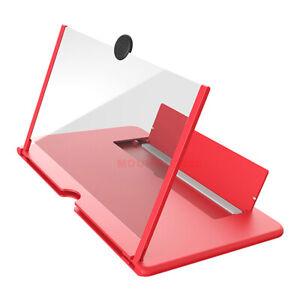 "12"" Mobile Phone Screen Magnifier 3D HD Zoom Amplifier Smartphone Stand Bracket"