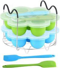 New listing Moldes de silicona para hornear huevos y vaporizador con asas resistentes al cal