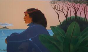 HE ALOHA NO HONOLULU by PEGGE HOPPER ~A HAND SIGNED Archival Art Print ~ HAWAII