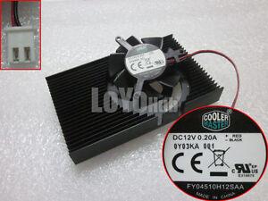 NVIDIA GeForce 210 graphics card Fan Heatsink Cooler Master FY04510H12SAA 2-Pin