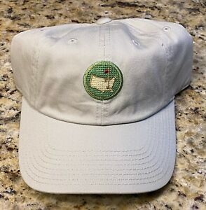 Masters Augusta National Golf Club Needlepoint Logo Tan Hat NEW with tags