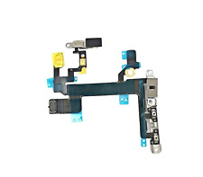 Power Mute Volume Button Switch Flex Ribbon Cable with Metal Bracket iPhone 5S