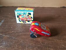 Vintage 1960s Acro-Car Tin Litho Mechanical Wind Up Toy Car with Box Yone Japan