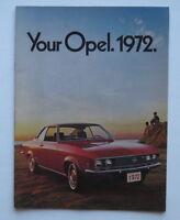 1972 Buick Opel Brochure Rallye Sport Coupe Wagon