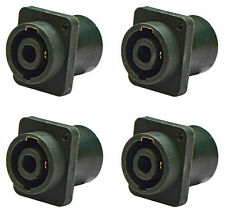 "(4 Pack) Procraft PC-TSC009 1/4"" Speakon Combo Jack Mono Connector, Neutrik mate"
