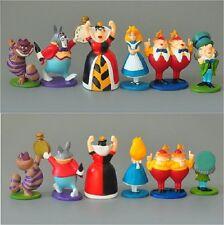 New Alice in Wonderland Playset 6 Figure Figurines Cake Topper Mini Toy Doll Set