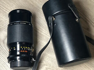 Rokinon 55mm Zoom Lens 75-200mm 1:4 Made in Japan Nikon F Mount with Case