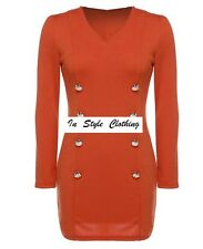 """LESLIE"" BEAUTIFUL ORANGE DRESS TUNIC SIZE 10 FEATURE BUTTONS AUTUMN WINTER"