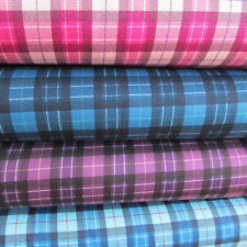 Japanese 100% cotton printed drill fabric by Sevenberry per FQT  plaid / tartan