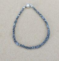 Roh-Diamant Edelstein Armband ,Magnetverschluss,20 cm,2-3  mm,  ( Mbc -19)
