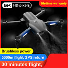 F9 5G WIFI FPV GPS with 6K HD Dual Camera Positioning Brushless RC Drone RTF UK