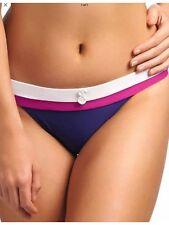 Freya Swim Revival Rio Wide Tab Hipster Bikini Brief Indigo Purple 3224 Size M