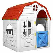vidaXL Kinderspielhaus Faltbar mit Tür Fenster Spielhaus Gartenhaus Kinderhaus S