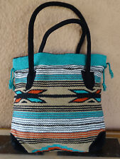 Monterey Tote Bag OPMONT-L Handwoven Southwestern Southwest  Bag with closure